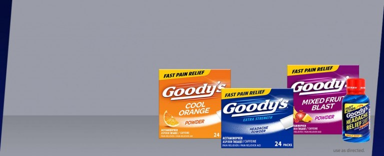 Choose the right Goody's® product for you.